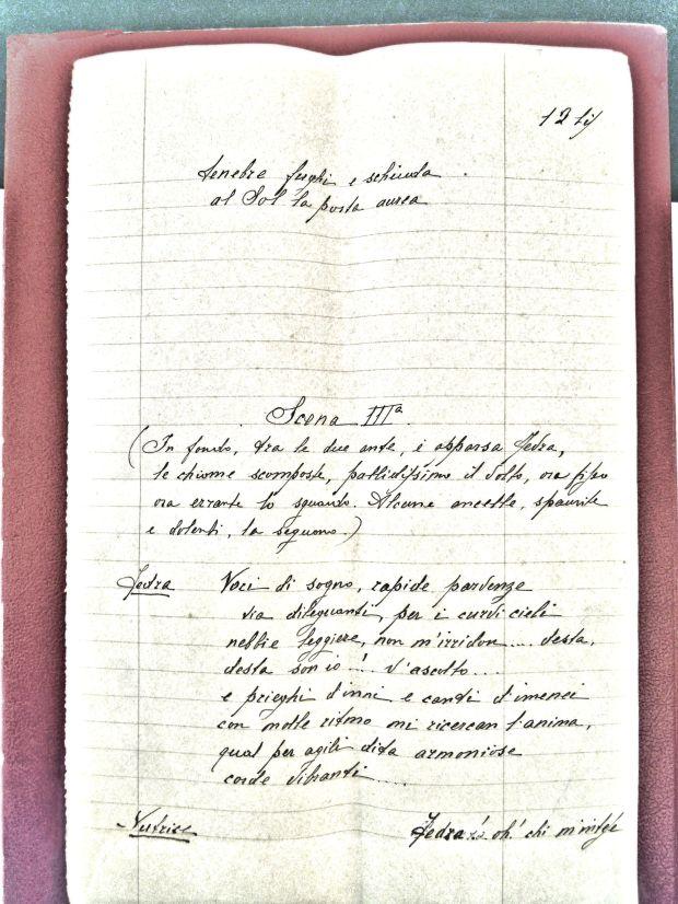 manoscritto bozzini fedra